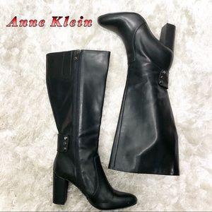 Anne Klein Black Tall Heel boots Wide Calf 8